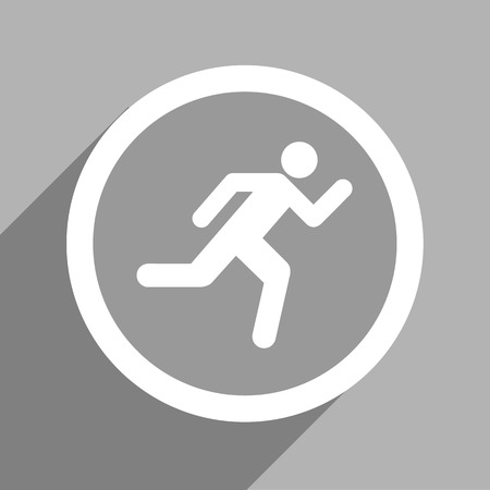 exit sign icon: Grey exit sign icon Vector EPS10, Great for any use. Stock Photo
