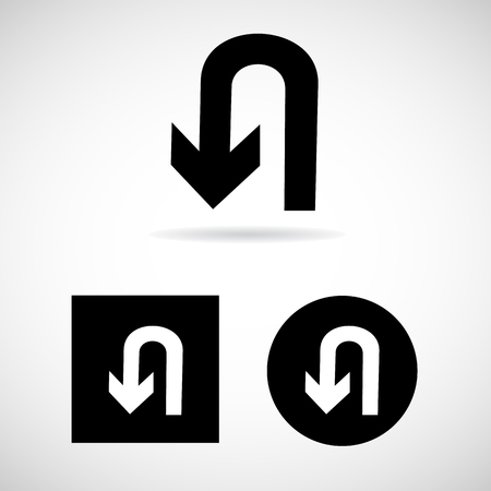 no u turn sign: U-Turn Roadsign - road sign with turn symbol isolated Vector EPS10, Great for any use.