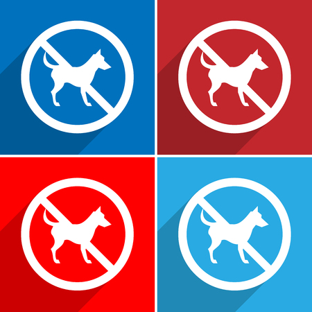 warning indicator: Not Dog sign Vector EPS10, Great for any use. Stock Photo