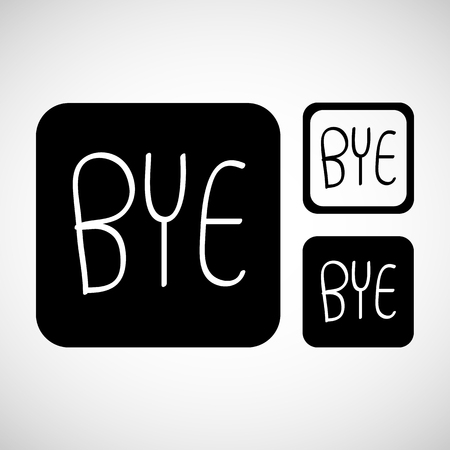 bye: bye comic text Vector EPS10, Great for any use.