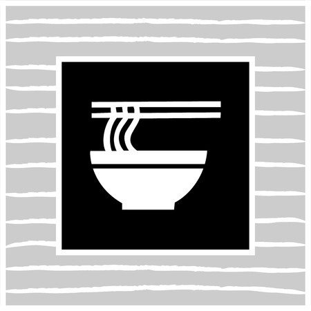 ramen: Japanese ramen noodles Shadow Vector EPS10, Great for any use.