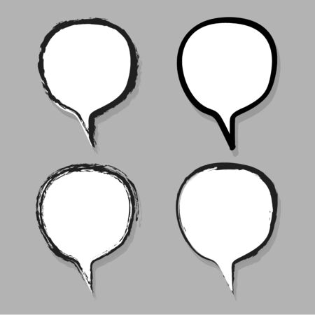 Drawing Speech Bubble Chat Vector EPS10, Great for any use.