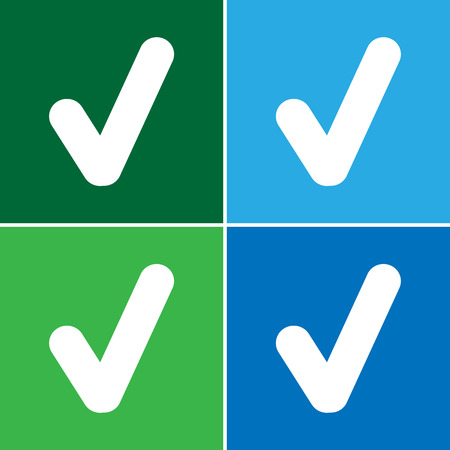 quadrate pictogram: Yes button Vector EPS10, Great for any use.