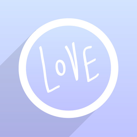 woodcutting: love text doodles great for any use. Vector EPS10.