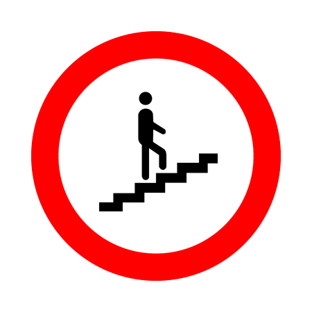 ascent: Man Going Icon Vector EPS10, Great for any use. Stock Photo