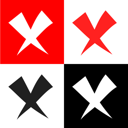 rood: Remove, delete, x icon Vector EPS10, Great for any use.