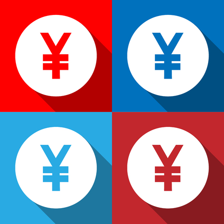 yen sign: Yen sign icon set Vector EPS10, Great for any use.