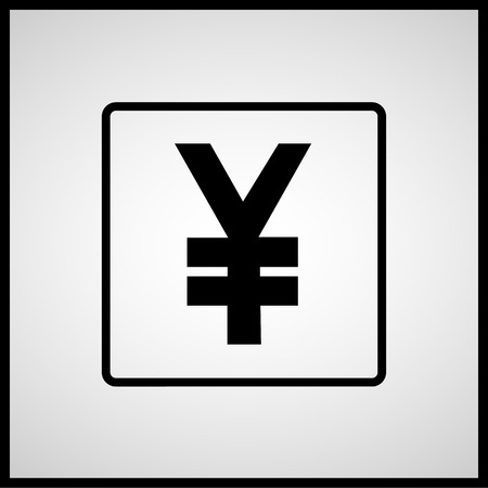 yen sign: Yen sign icon Vector EPS10, Great for any use. Stock Photo