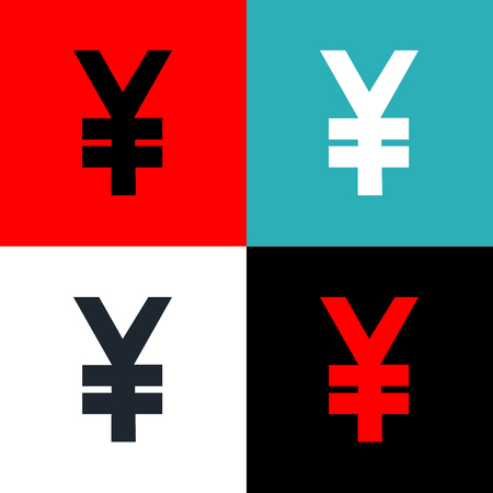 yen sign: Yen sign set Vector EPS10, Great for any use. Stock Photo