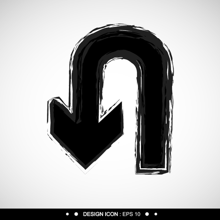 no u turn sign: U-Turn icon Vector EPS10, Great for any use.