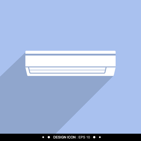coldness: Air conditioner icon Vector EPS10, Great for any use. Stock Photo