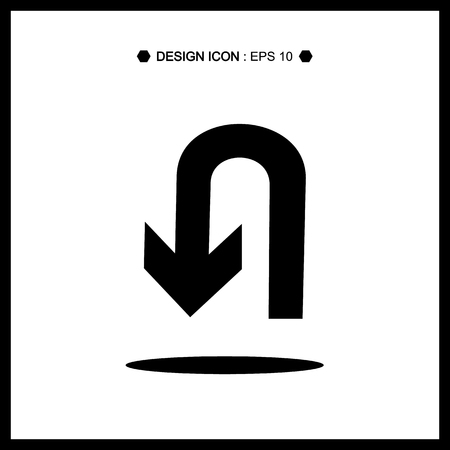 no u turn sign: Turn symbol isolated Vector EPS10, Great for any use.