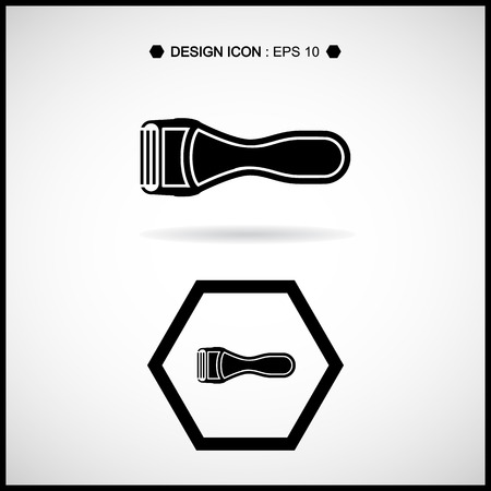hair cutter: razor Icon Vector EPS10, Great for any use.