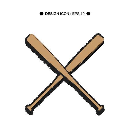 murcielago: B�isbol de la historieta cruzadas EPS10 murci�lagos vector, grande para cualquier uso.