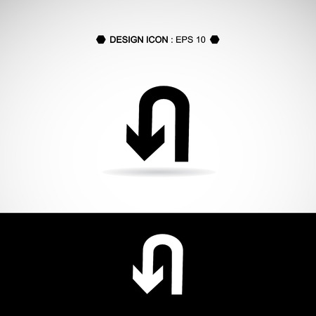 no u turn sign: U-Turn symbol isolated Vector EPS10, Great for any use.