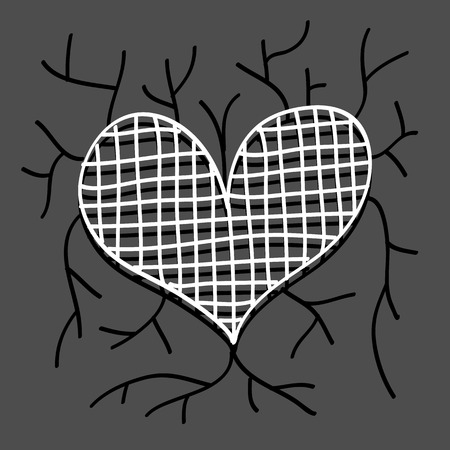 compliments: Hearts in Doodle style sketch art great for any use. Vector EPS10.