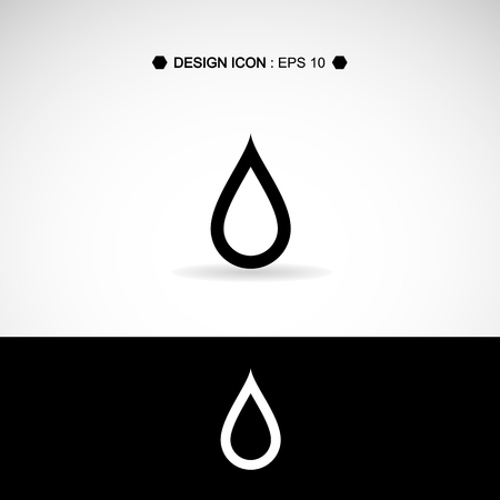 reflection of life: Black drop icons set Vector EPS10, Great for any use.