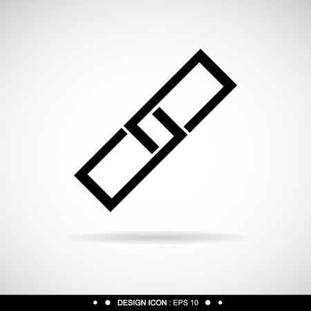 pressure linked: A link icon. Vector EPS10, Great for any use.
