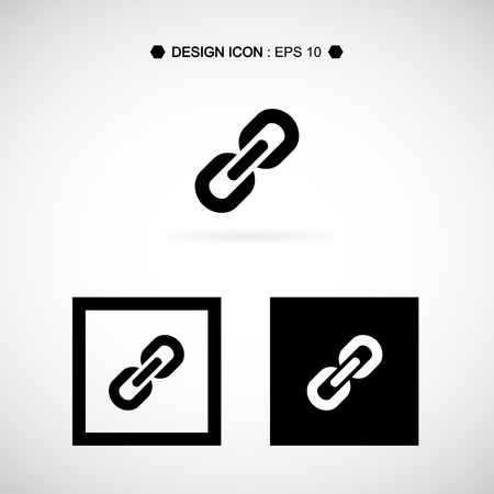 pressure linked: Chain, link icon. Vector EPS10, Great for any use.