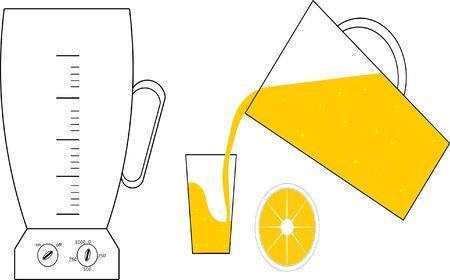 orange juice Vector illustration. Çizim