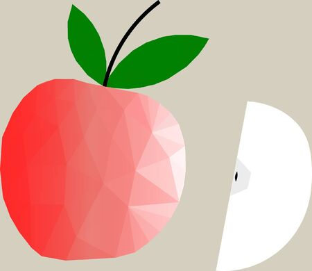 Apple Abstract Vector illustration. Çizim
