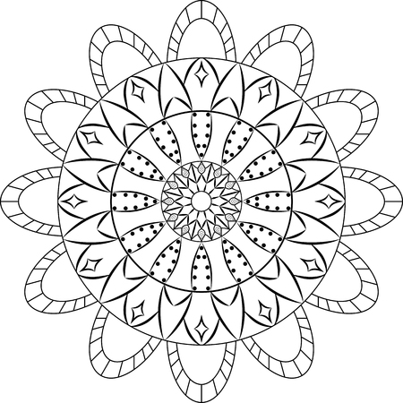 Mandala for Painting Illustration