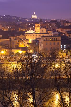 tiber: Tiber and Saint Peter Stock Photo