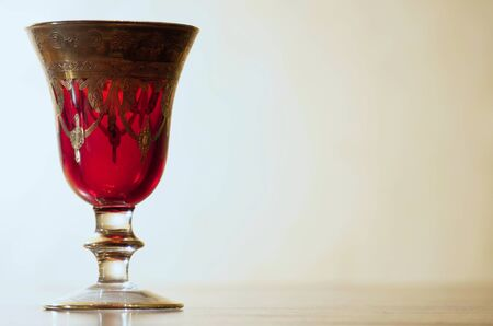 crystal glass: Old goblet