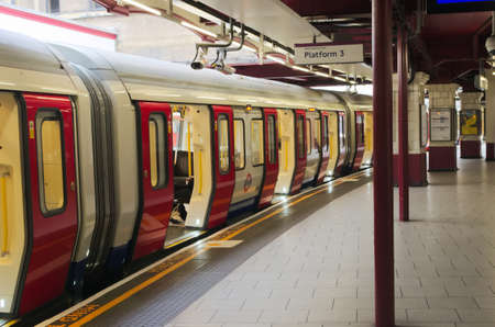 uk: Underground station, the tube in London UK Editorial