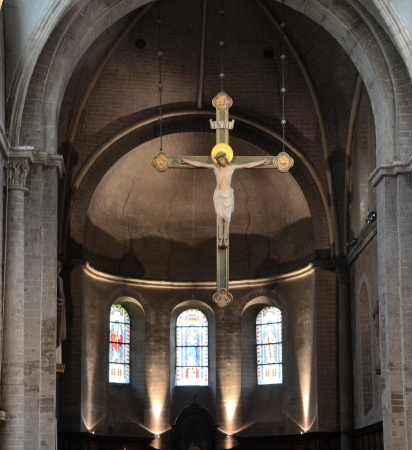jezus: Chapel of the abbey of Postel, Belgium  Editorial