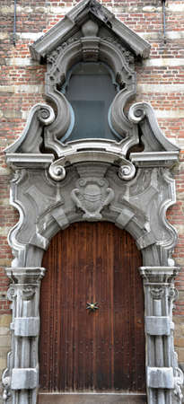 view of a wooden doorway: Entrance