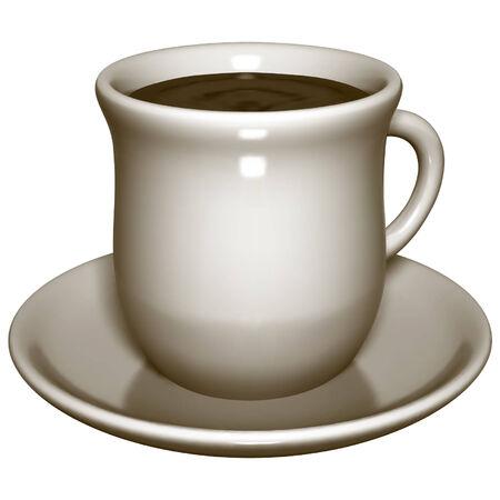 drinkable: Cup of Tea - Vector teacup � Gradient mesh used!