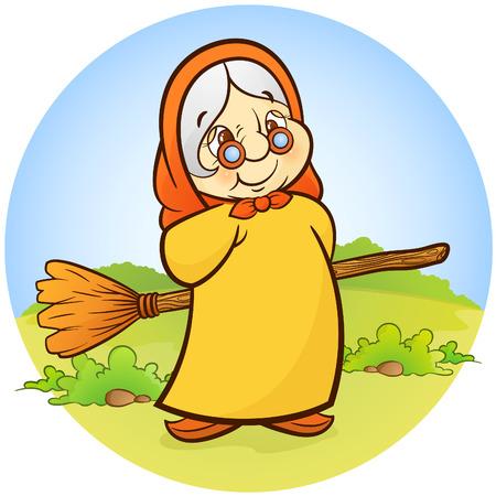 barren: Vieja bruja con un barrido!