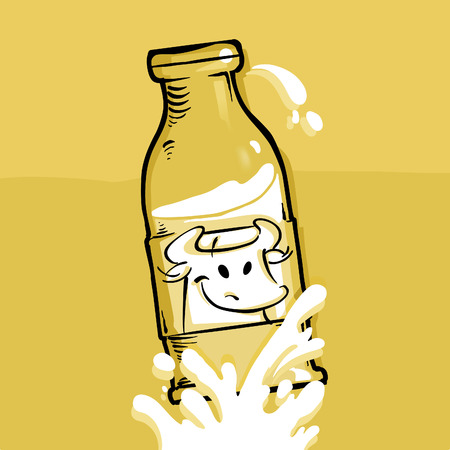 gush: Milk - comic style of a milk bottle