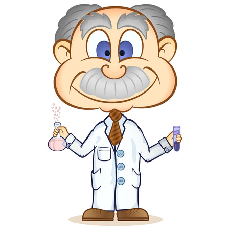 A professor testing a formula in the lab! Stock Vector - 8420259