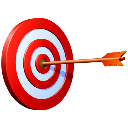 target business: Top Success! Shoot on target! Illustration