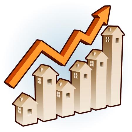 investment real state: Una tasa de estado real de gr�fico mostrando cambios!