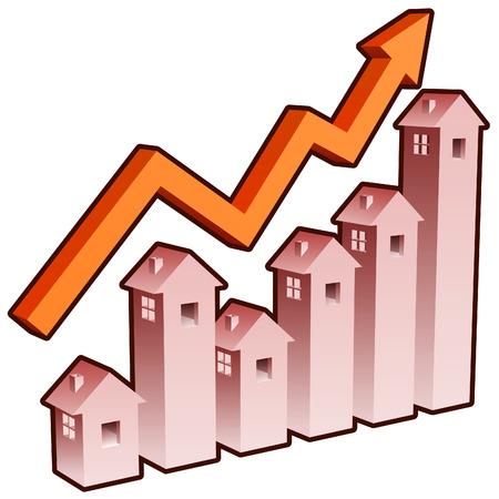 investment real state: gr�fico muestra inmobiliario compra y vende los tipos de cambio! Vectores