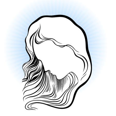 berserk: Abstract silhouette of a woman head!