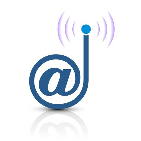 voicemail: New unique and creative icon design indicates email service and wireless technology. Illustration