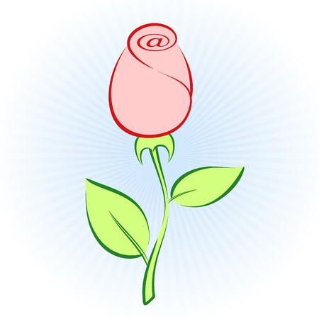 contain: Rose Mail. Simple rose contain at sign!