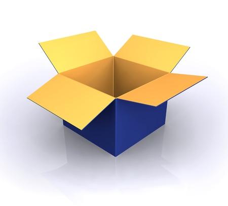 box big: empty open Box