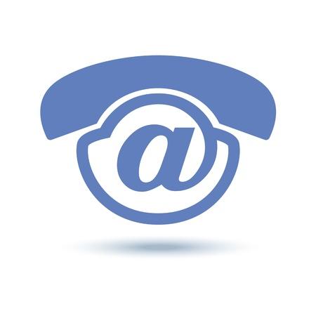 telecoms: Vocale! Icona uniche e creative design per servizio vocale. luce blu. Vettoriali