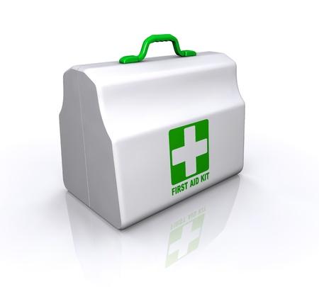 first aid box: Kit de primeros auxilios Vectores
