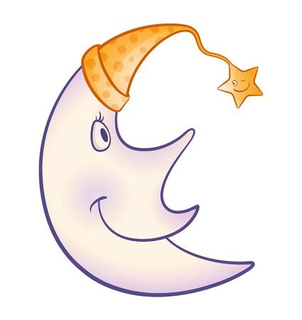 clin d oeil: Friends Forever - caricature de lune et les �toiles !