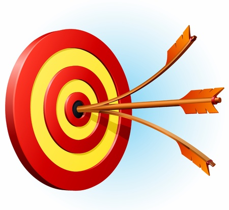 Great Success, Double hit on bulls eye! Vector