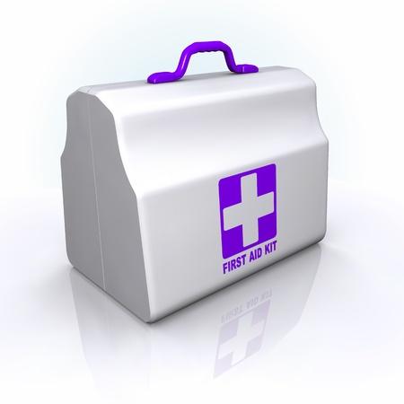 spital ger�te: First Aid Kit. violet Stil