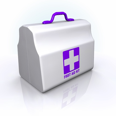 first aid box: First Aid Kit. violet style