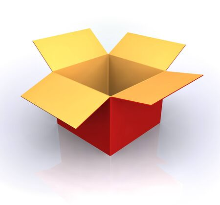 shipments: Open Box- Red box