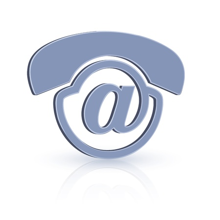 Voice-Mail icon design. Unique and creative icon design for voice-mail technology. Stock Vector - 10160690